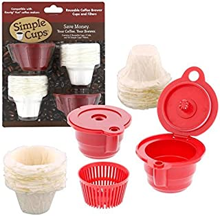 Reusable Vue K-Cup* Coffee Cups (Set of 2) with 50 Filters - 100% Compatible with Keurig Original Vue*