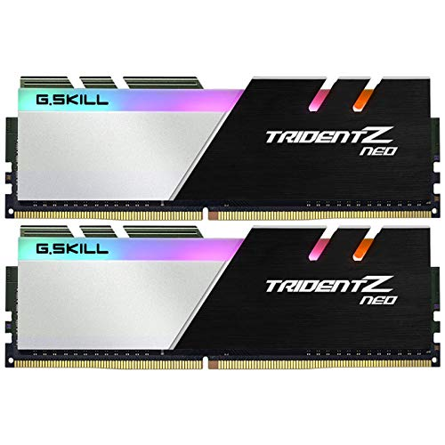 G.Skill DIMM 16 GB DDR4-3600 Kit Memory - Black/White F4-3600C18D-16GTZN