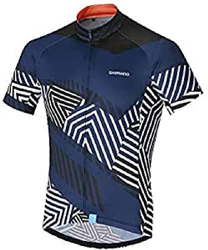 SHIMANO Maillot M/C SH M Climbers Nav T-L Camiseta, Hombre