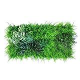 urbanjungle Pflanzen Wand: 0,5m² zuschneidbare Pflanzenwand Matte mit künstlichen Pflanzen – Vertikaler Garten als Wandbegrünung, Sichtschutz am Zaun oder Balkon, Pflanzenbild (A)