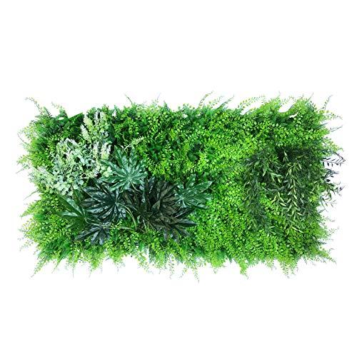 urbanjungle Pflanzenwand (Aussehen und Maße individ. anpassbar) : 0,5m² Matte mit künstlichen Pflanzen – Vertikaler Garten als Wandbegrünung, Sichtschutz am Zaun oder Balkon, Pflanzenbild (A)