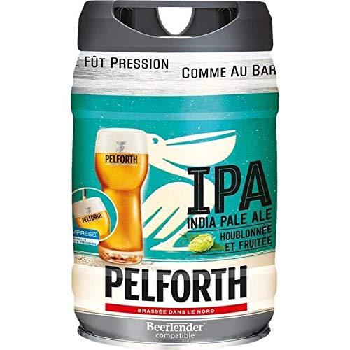Bière - PELFORTH Fût de biere blonde - IPA - Compatible Beertender - 5 L