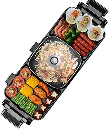 Casa portátil Hogar eléctrico Pot Máquina de cocción BBQ Grill y Pot...