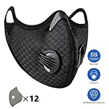 1Pack Anti-Pollution Cycling Mask Activated Carbon Filtration Exhaust Gas Biking Mask Face Mask Covers for Running Motorcycling Riding Hiking Working