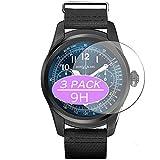 Vaxson - Pellicola protettiva in vetro temperato, compatibile con MONTBLANC SUMMIT, pellicola protettiva 9H, per smartwatch