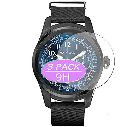 VacFun 3 Piezas Vidrio Templado Protector de Pantalla, compatible con MONTBLANC SUMMIT, 9H Cristal Screen Protector Protectora Reloj Inteligente NEW Version
