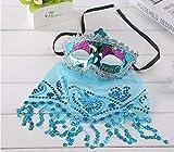 Fiesta de Maquillaje Fiesta Navidad Halloween Danza del Vientre Velo máscara de Dama Código Promedio Azul
