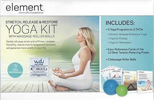 Element Stretch, Release & Restore Yoga Kit With Massage Roller Balls