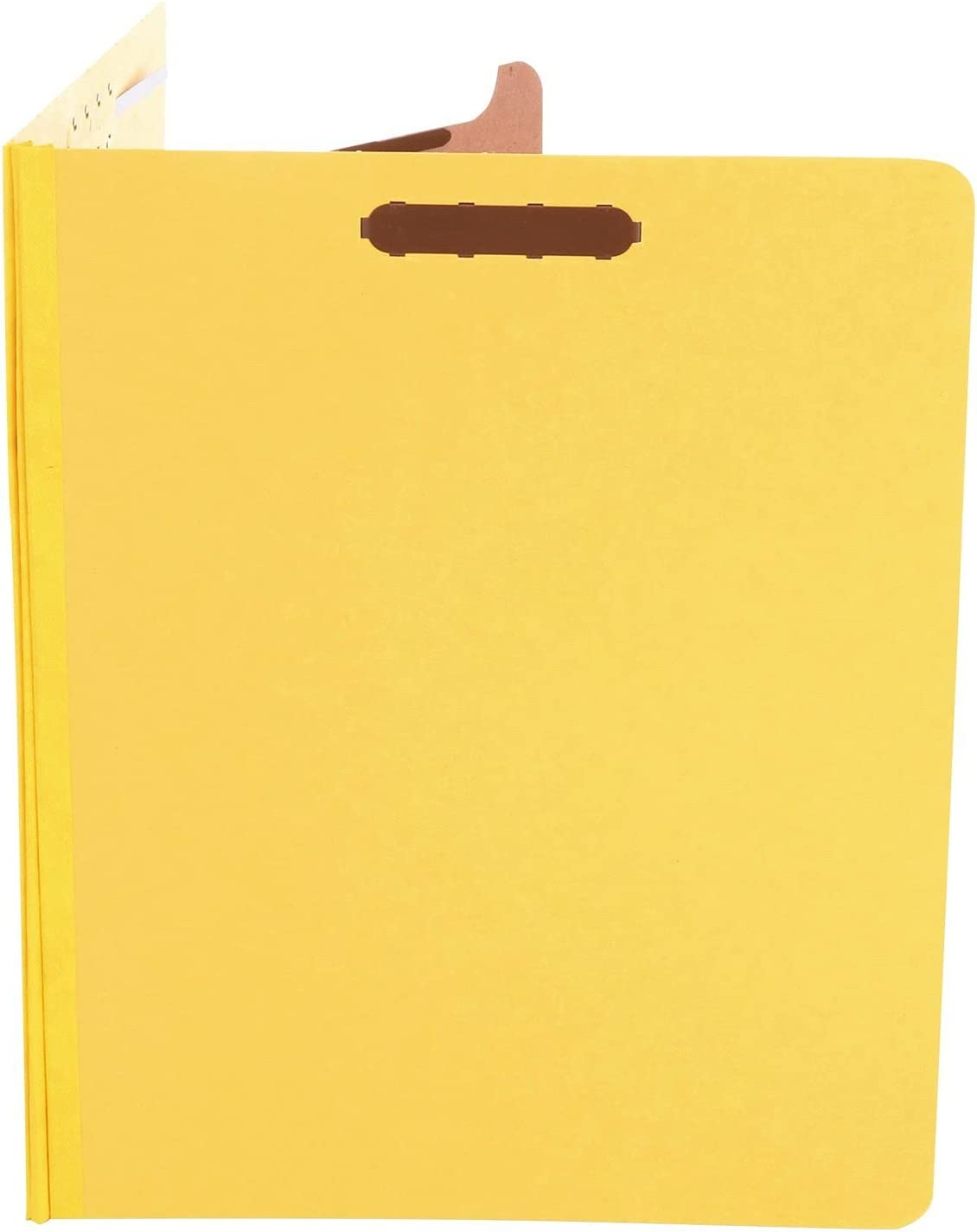 Four-Section Yellow Letter 2 Box of 10 Universal Pressboard Classification Folders