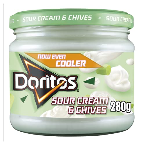 Doritos Sour Cream & Cool Chive Vegetarian Dip, Perfect for Sharing 280g