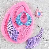 FGHHT Moldes de alas de ángel Molde de Silicona 3D Fondant Molde Herramientas de decoración de Pasteles DIY Pasta de Goma Utensilios para Hornear de Cocina