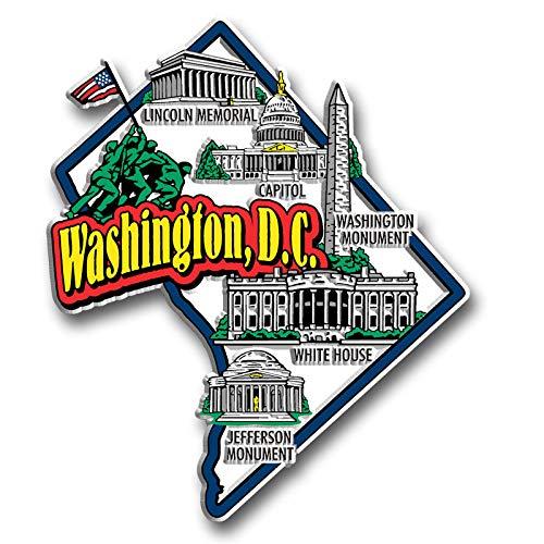 Washington D.C. State Jumbo Map Magnet