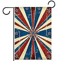 ホームガーデンフラッグ両面春夏庭屋外装飾 12x18INCH,汚れた旗