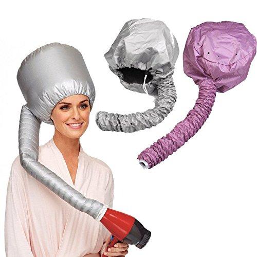 UCTOP STORE2 - Bonnet souple - Hotte portable - Sèche cheveux - Pour femme - Soin des cheveux - (L un est argenté, l autre est rose) - Sûr