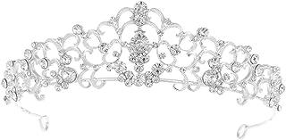 Minkissy diadema di Cristallo Strass Tiara di Cristallo Corona Scintillante di sfilata di diadema in Lega Scintillante Vin...