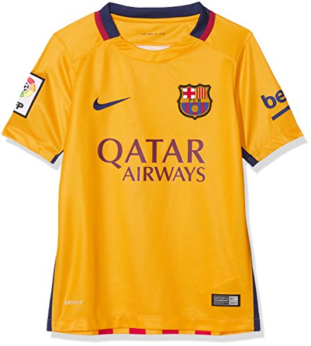 Nike Kinder Heimtrikot FC Barcelona Away Stadium 2015/2016, gelb, XL, 659028