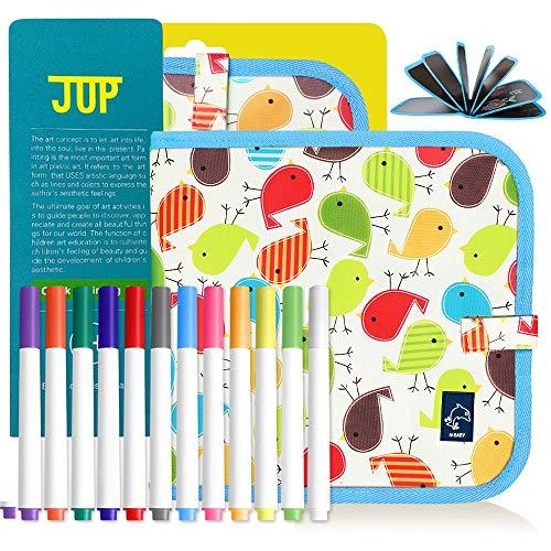 Qucheng Kinder-Zeichenbretter, Kinder-Zeichenbuch, ohne Kreide, für Kinder, tragbar, Graffiti-Buch mit magischer Malerei für Kinder (große Vögel)