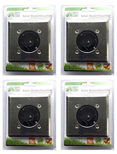 4x Solar Foco LED de suelo, solar lámpara de suelo, solar Leuchten Camino Iluminación