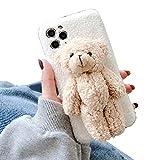 CAMOAR アイフォン 専用ケース 可愛い クマ iphone11 ケース アニマル ぬいぐるみ 携帯ケース ……