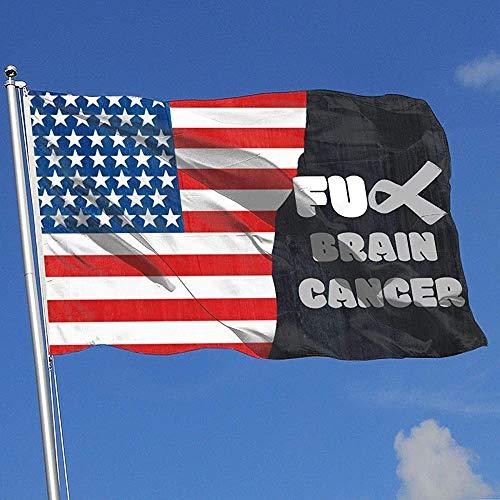 ALLdelete# Flags Fuck Brain Cancer Country Banner Flag Game Flag Outdoor Garden Flag 3 X5 Feet House Banner
