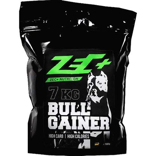 ZEC+ Bullgainer Protein-Pulver, Eiweiß Supplement mit Proteinen & Kohlenhydrathen, idealer Protein Shake für Krafttraining Erdbeere 7000g