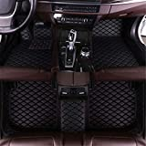 Jiahe Car Floor Mats for Jeep Grand Cherokee 2011-2018 Full Covered Leather Carpet Auto All Weather Protection Front & Rear Liner Set All Black