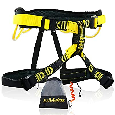 KwikSafety Mandrill Harness | 1 PC, 2 Pack, Bundle, Combo Pack, KIT | Climbing Harness, Ascenders, Descenders, Pulleys, Carabiners, Tool Lanyards | Climbing Gear for Outdoor