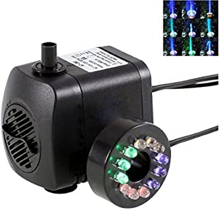 12 Colorful LED Light Submersible Pump with Powerhead Fountain for Aquarium Fish Tank Water Hydroponic (AT-380)