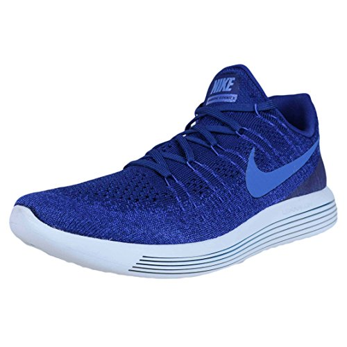 Nike Mens Lunarepic Low Flyknit 2 Running Shoe Deep Royal Blue/Medium Blue 8.0