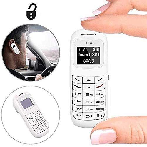 JJA BM70 2020 World El teléfono móvil más pequeño L8Star Pequeña Tarjeta de crédito de plástico tamaño del Dedo móvil Desbloqueado Pequeño Juguete Compacto para niños (Blanco)
