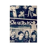 One Ok Rock 500ピース ジグソーパズル パズル 減圧玩具 漫画木製 大人パズルおもちゃ 壁の装飾 ギフト(52cm * 38cm)