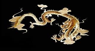 VIP.LINE Gold Dragon Aquarium Background Poster PVC Fish Tank Decorations Landscape