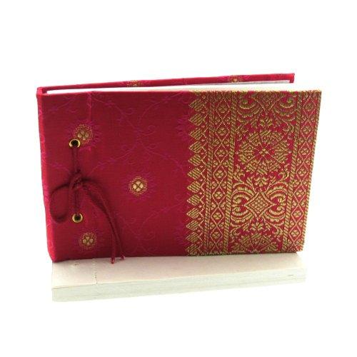 Fair Trade Blocchetti per appunti Sari 140 x 100 mm piccolo rosso ciliegia
