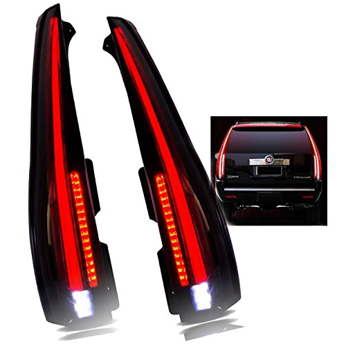 JDMSPEED New LED Tail Lights Smoked Tinted Lamp Replacement For Cadillac Escalade 2007-2014 Rear Lamp 2016 Model Assembly