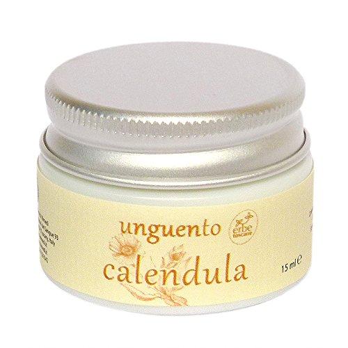 Baume BIO au CALENDULA - Excellent pour le Visage et les Lèvres, les Mains gercées et la Peau sèche - Pur concentré naturel – Produit artisanal de Italie (15 ML)