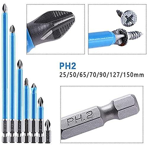 7pcs Magnetic Anti-Slip Drill Bit, Screwdriver Bit Sets Drill Bit Set, Magnetic PH2 Bits Set Hand Tools, Hand Electric Drill Driver Tools (Multicolor)