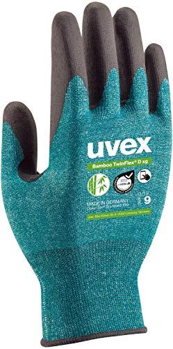 Uvex 1 Paar Bamboo TwinFlex D xg - Schnittfeste Arbeitshandschuhe - Gr 09 / L
