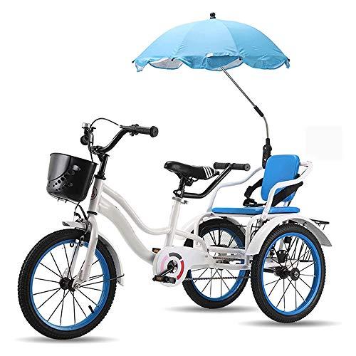 Bicicletas Antiguas De 3 Ruedas Triciclo De 16 Pulgadas para Niños Niñas Y Niños Bicicletas De Crucero Cesta Delantera para Bicicletas De Tres Ruedas,C-16inch