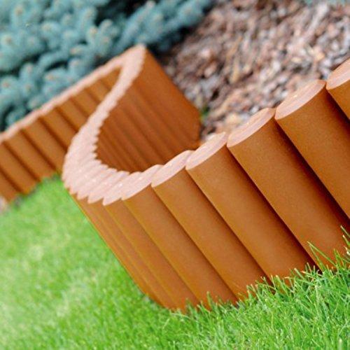 Parkland® Palissade de jardin En plastique. 3 Sets of 8 (6.6m) terre cuite
