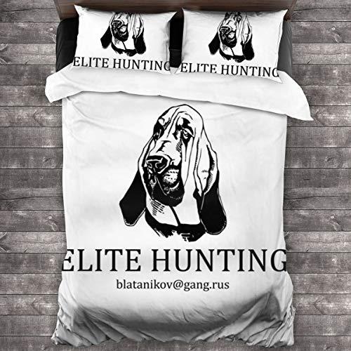 KUKHKU Hostel Elite Hunting Club Business Card Juego de cama de 3 piezas, funda de edredón de 86 x 70 cm, juego de cama con 2 fundas de almohada