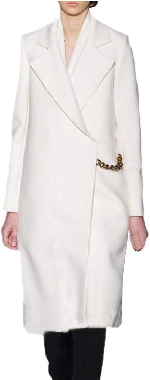 Abetteric Womens WoolBlend Maxi OpenFront Cashmere Warm Pea Coat