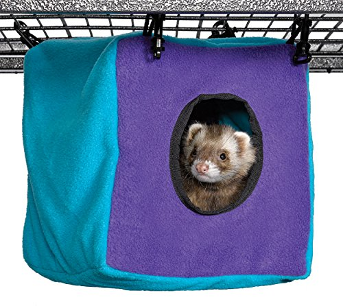 MidWest Homes for Pets Ferret Nation & Critter Nation Accessories, Cubo Acogedor, Púrpura/Verde Azulado