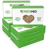 Pistachos ecológicos PISTAMED - 600 gramos. Tostado artesanal SIN SAL - Origen España (6 cajas de 100 gr.)