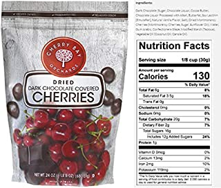 Dark Chocolate Covered Dried Cherries (Case of 8 - 24oz bags)