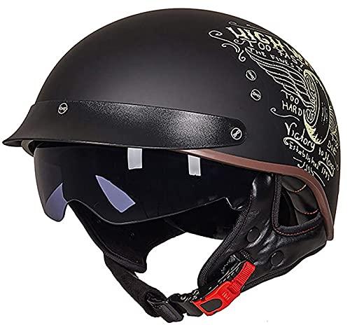 Medio casco de motocicleta con certificación ECE/DOT Casco jet Casco de motocicleta...