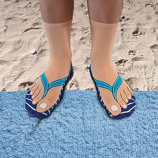 Ginger Fox Novelty Joke Flip Flop Socks For Men & Women UK Size 5-11 One Size Fits All