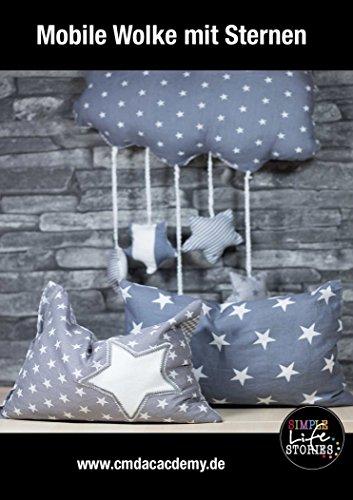 Wolken Mobile mit Sternen: für's Kinderzimmer