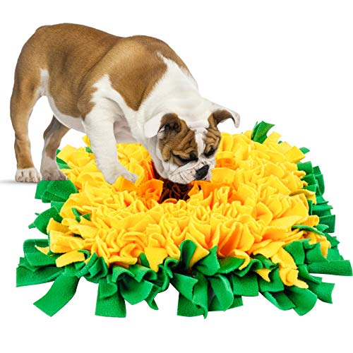 PatiencET Interactive Snuffle mat for Dogs Puzzle Toys for Large DogsGames Gifts Encourages Natural Foraingg Skills 17.7