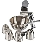 Maxam Vegetable Chopper, Dynamic Food Processor with Stainless-Steel Shredders With 5 Quart Mixing Bowl