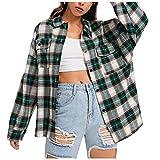Camisa con capucha Dasongff, a cuadros, chaqueta de entretiempo, de manga larga, para primavera, otoño